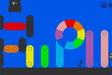 Бесплатная головоломка 10 человек/10 цветов – это, Лемминги с цветовым кругом