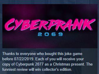 Cyberprank 2069 удалили из Steam