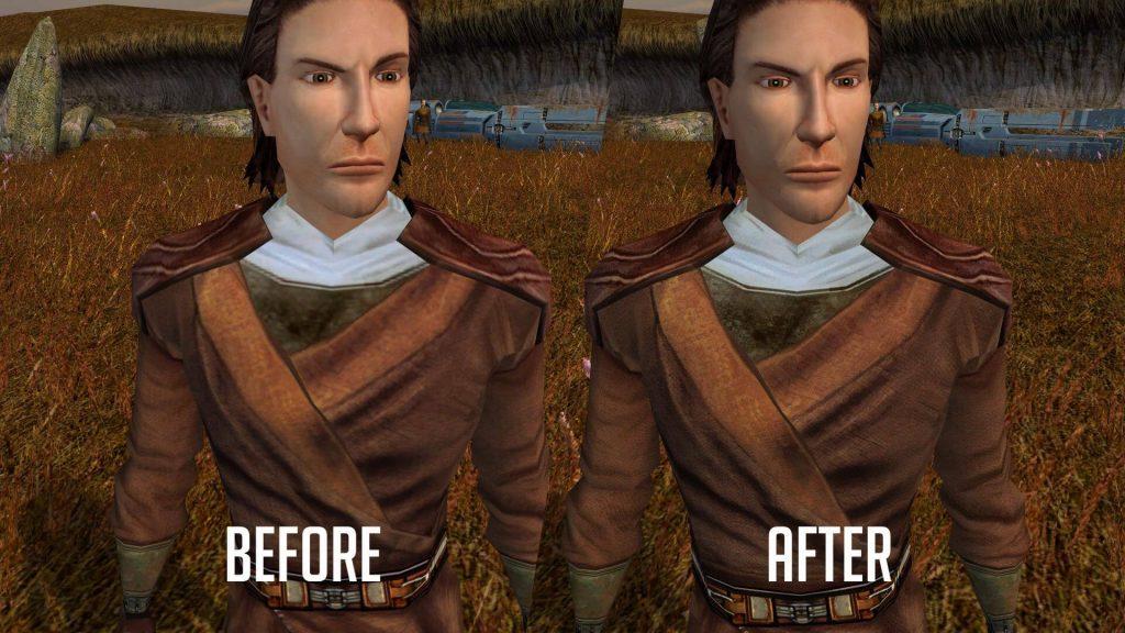 Взгляните на KOTOR с улучшенными текстурами персонажей