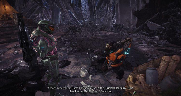 Мод добавляет Мастер Чифа из Halo в Monster Hunter World