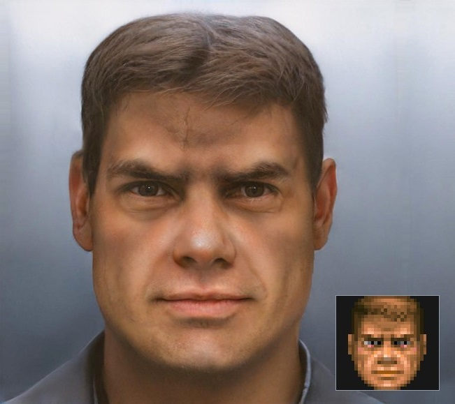 Поклонник Doom воссоздал лицо главного героя в высоком разрешении