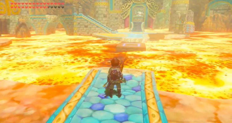 Пол – это лава, в этом новом модифицированном подземелье в The Legend of Zelda: Breath of the Wild
