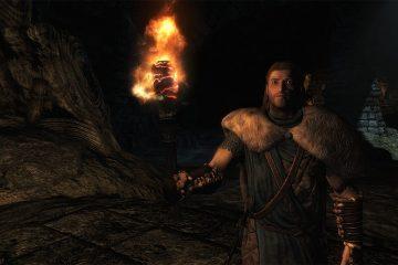 Игрок прошёл Skyrim, используя только факел