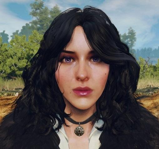 Первый вариант образа Йеннифер в Witcher 3