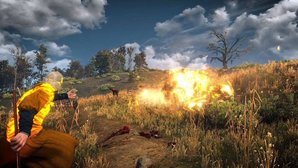 Мод для The Witcher 3 позволяет кидаться метеорами, торнадо и вызывать големов