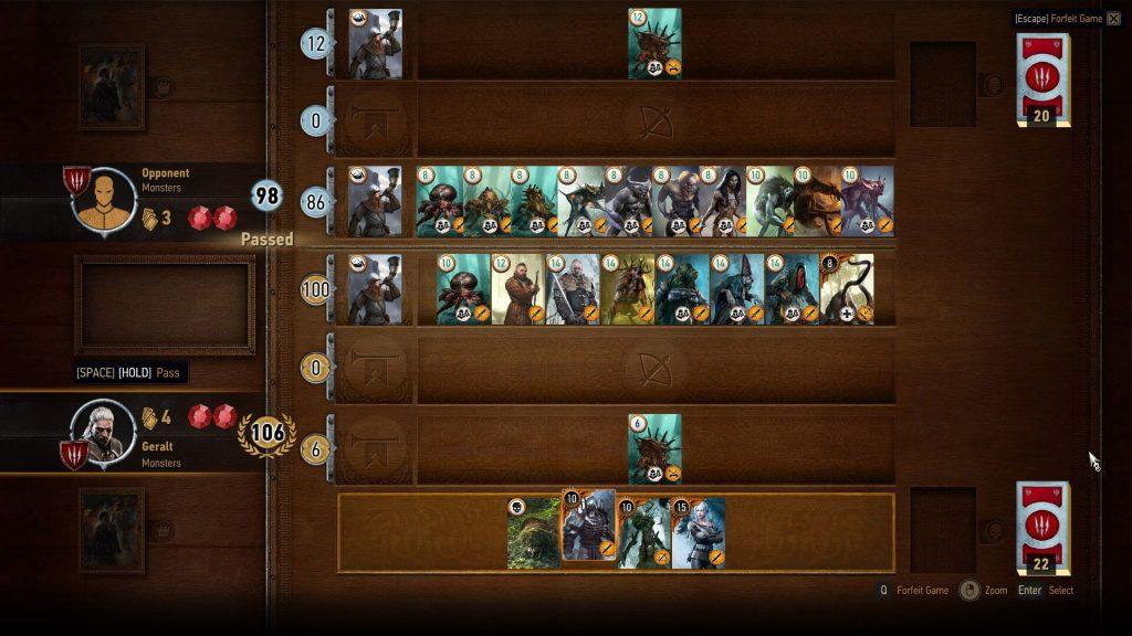 Игра в гвинт в The Witcher 3