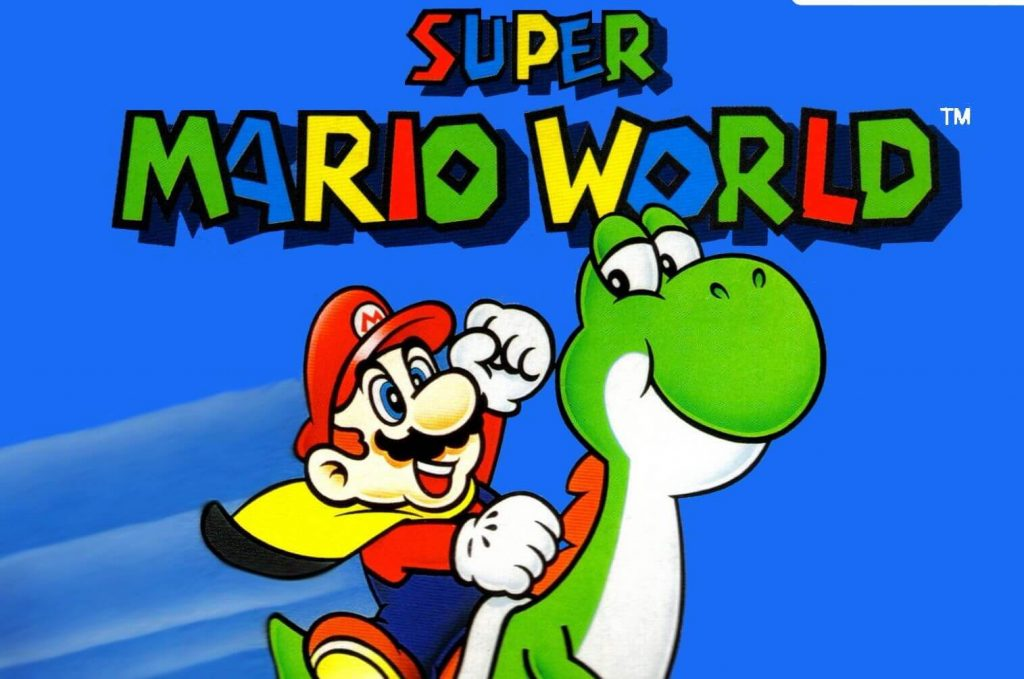 Марио бьет Йоши – Super Mario World