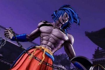 Samurai Shodown - синеволосый Basara вступает в бой