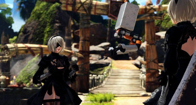 Непревзойденный опыт NieR Automata в Monster Hunter World, замена голоса, моделей и музыки