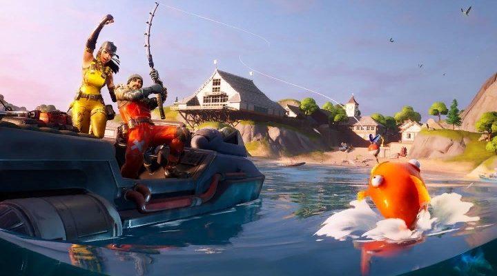 Первое рыболовное соревнование в Fortnite