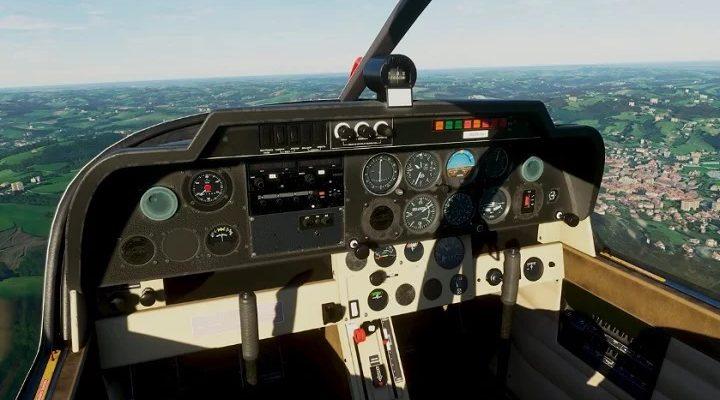 Представлена панель управления в Microsoft Flight Simulator