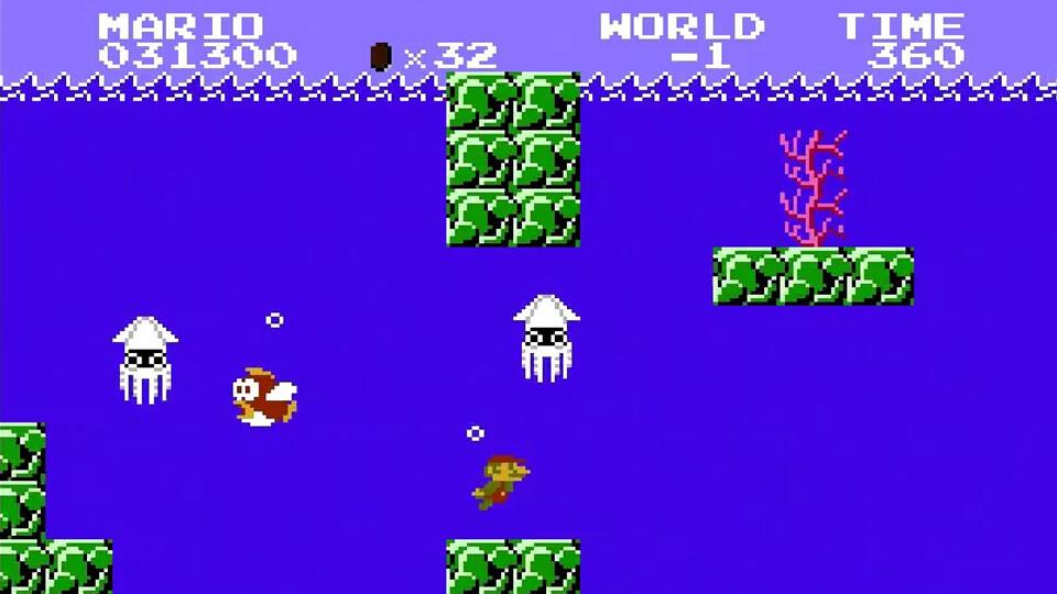 Безвыходный «минус первый» уровень, приводящий к смерти Марио - Super Mario Bros.
