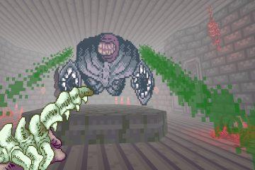 Мясник каких-то космических ужасов в моде Shrine для Doom 2