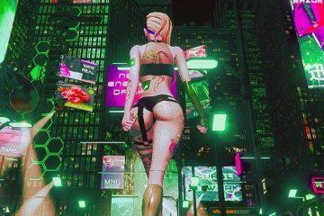 Геймплей Cyber City — игры для взрослых в стиле Cyberpunk