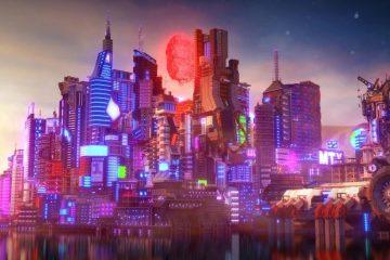Город Cyberpunk 2077 в Minecraft – это кубический шедевр