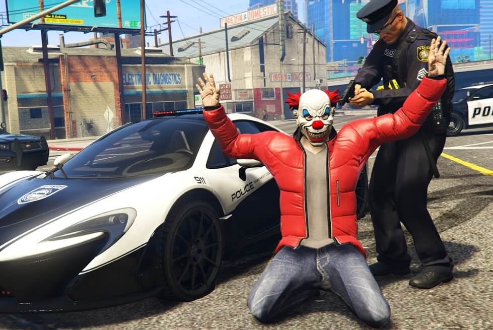 Позволить сыграть за полицейского от начала до конца