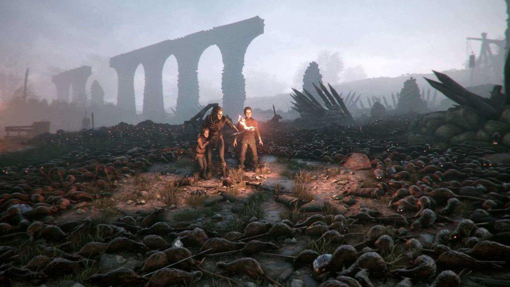 Поле боя под акведуком в A Plague Tale: Innocence