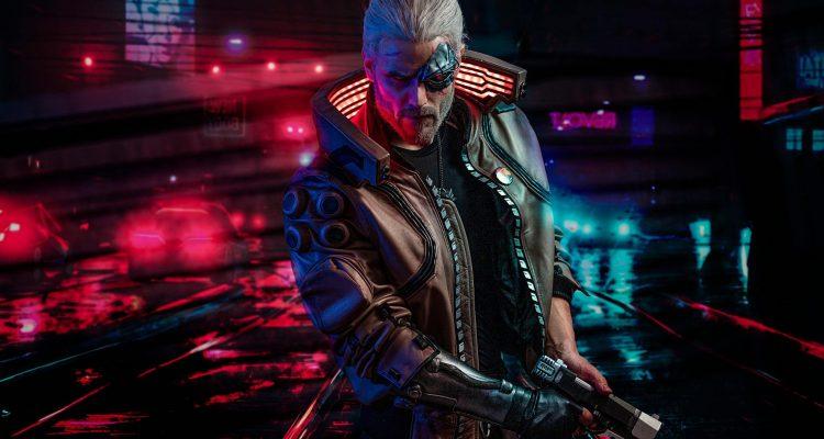 Cyberpunk 2077 и косплеер Ведьмака демонстрируют потрясающую кибер-версию Геральта
