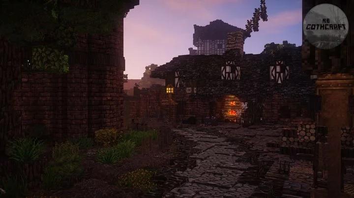 Город Хоринис воссоздан в Minecraft