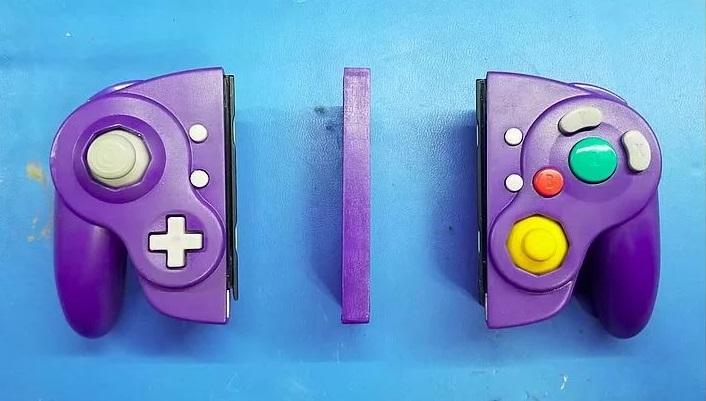 Nintendo Switch с консольным контроллером GameCube