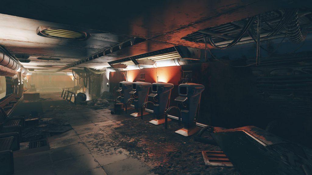 Новая локация Fallout 76 - укрепленный гараж-стоянка под разрушенным городом