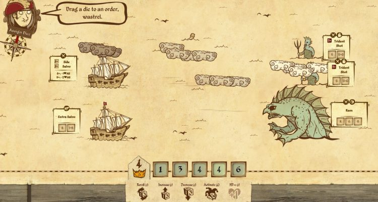 Ведите безумных моряков к краю мира в сражении с кубиками Here Be Dragons