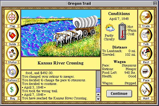 Добраться до Орегона в The Oregon Trail