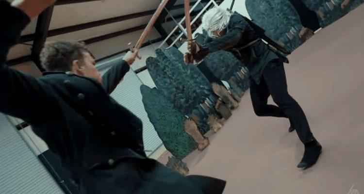 Ужасный косплей и невероятная сцена боя Ведьмака