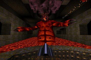 Сражение со Хтоном в Quake