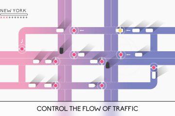 Регулируйте движение транспорта на дорогах в стильном симуляторе Traffix