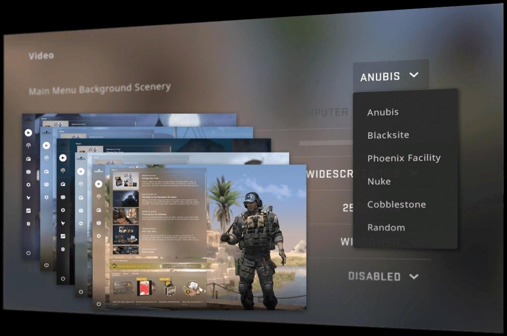 Valve выпустила обновление для CS: GO с фонами для главного меню