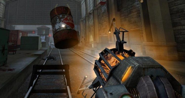 Синяя гравипушка в Half-Life 2