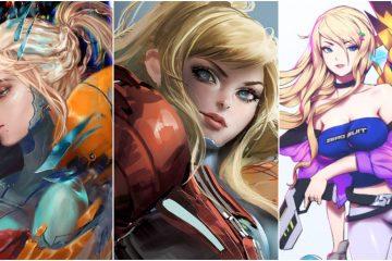 10 потрясающих фан-артов с Самус из Metroid