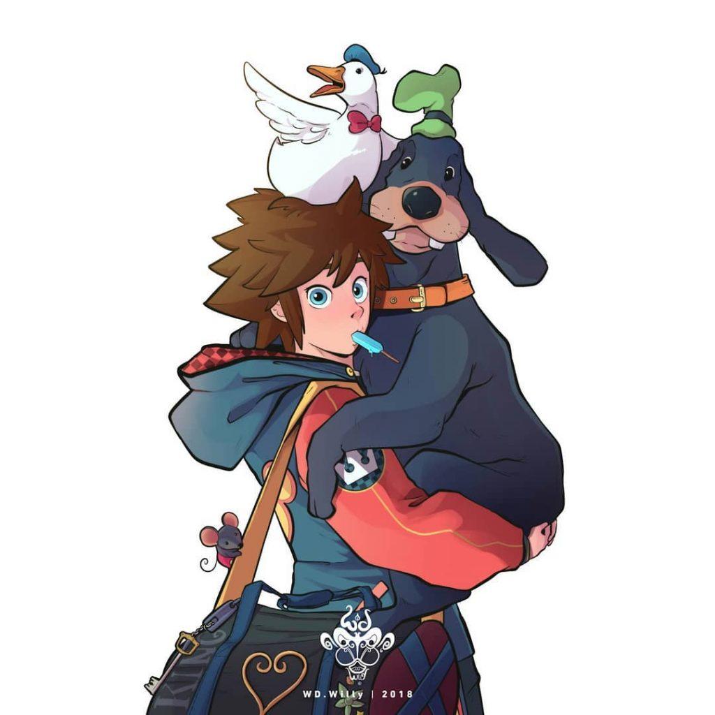 Лучшие фанарты, посвященные Соре из Kingdom Hearts