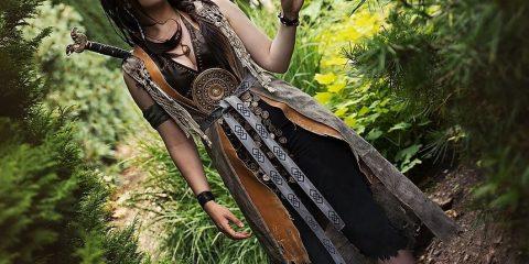 Косплей на Фрейю из God of War безупречно запечатлел скандинавскую богиню