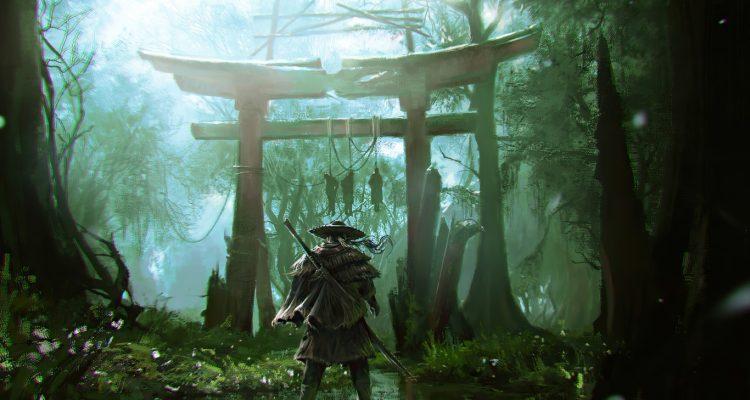 Фанат Ghost of Tsushima проходит игру с помощью катаны