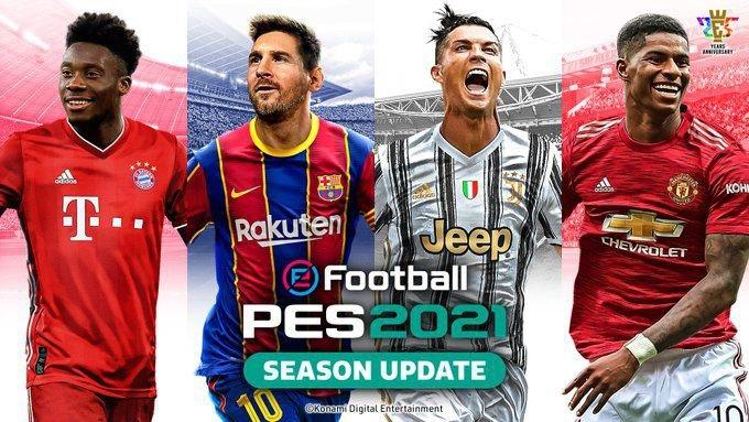 Konami назвала имена футболистов, попавших на обложку PES 21