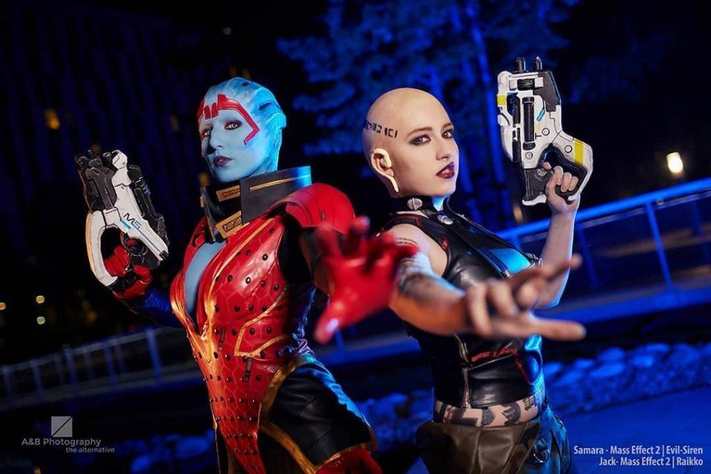 Лучший косплей Джек из Mass Effect
