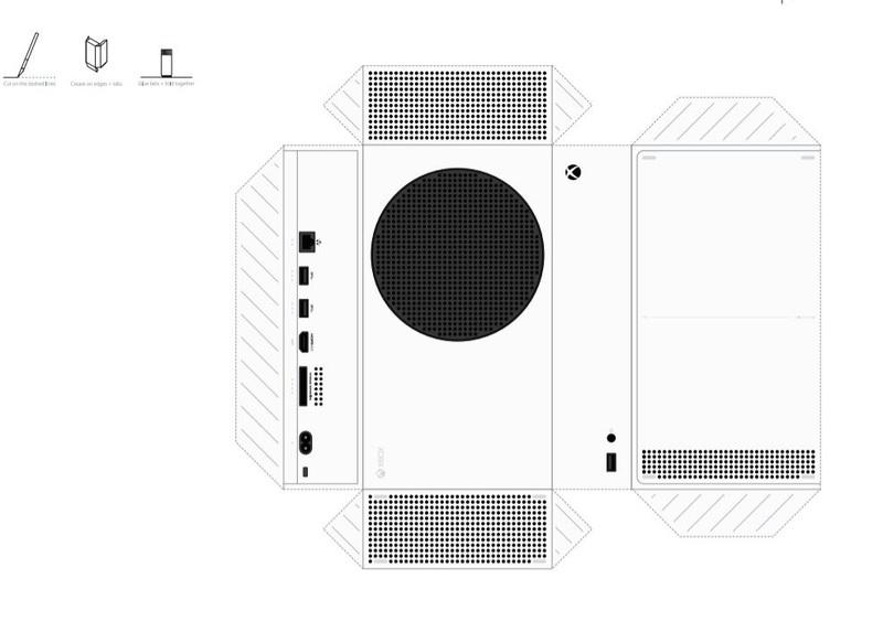 Microsoft выпустила бумажную модель Xbox Series X и S для предварительной примерки дома