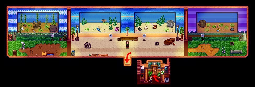 Мод добавляет в Stardew Valley аквариум в стиле Animal Crossing