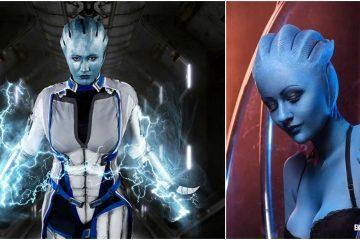 Лучший косплей Лиары Т'Сони из Mass Effect