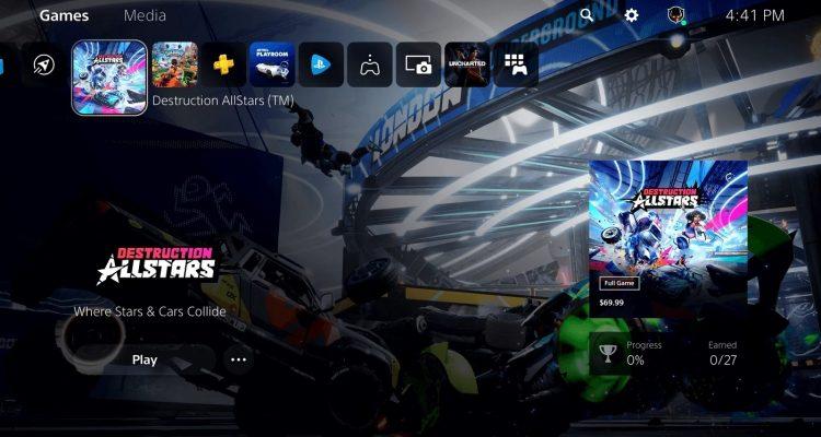 Sony продемонстрировала интерфейс PlayStation 5