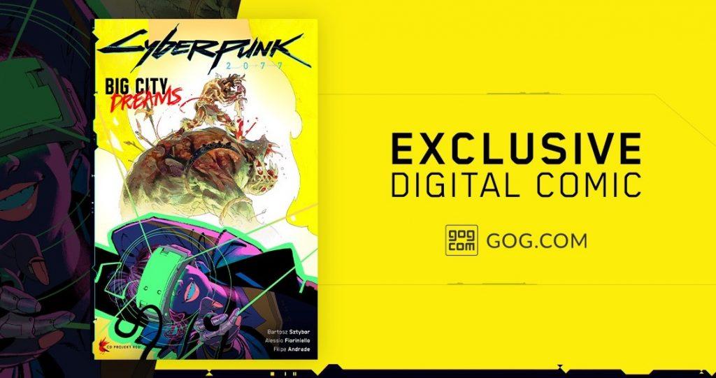 За предзаказ Cyberpunk 2077 в магазине GOG предусмотрен цифровой комикс