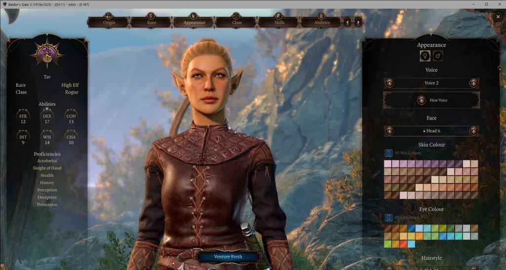 Мод для Baldur's Gate 3 добавит в редактор персонажа больше опций