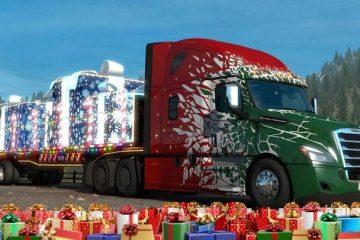 ETS2 и ATS готовятся к новогодним праздникам - игроки доставляют подарки