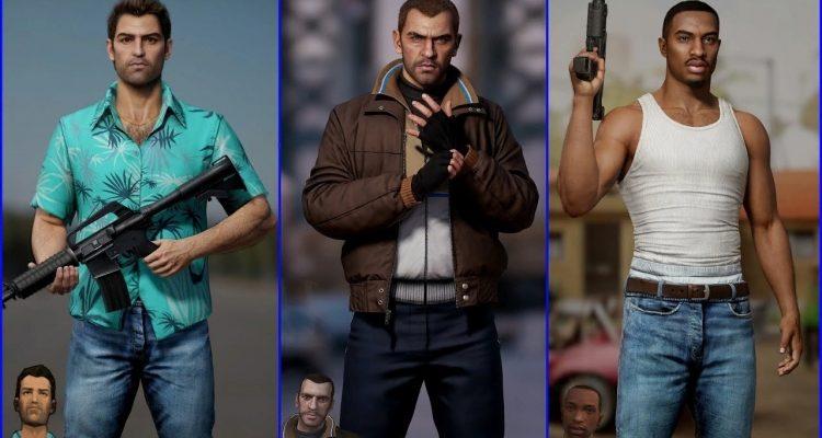 Как бы выглядели герои GTA прошлых частей, если бы релизы состоялись на современных консолях