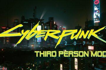 Появился мод для вида от третьего лица в Cyberpunk 2077