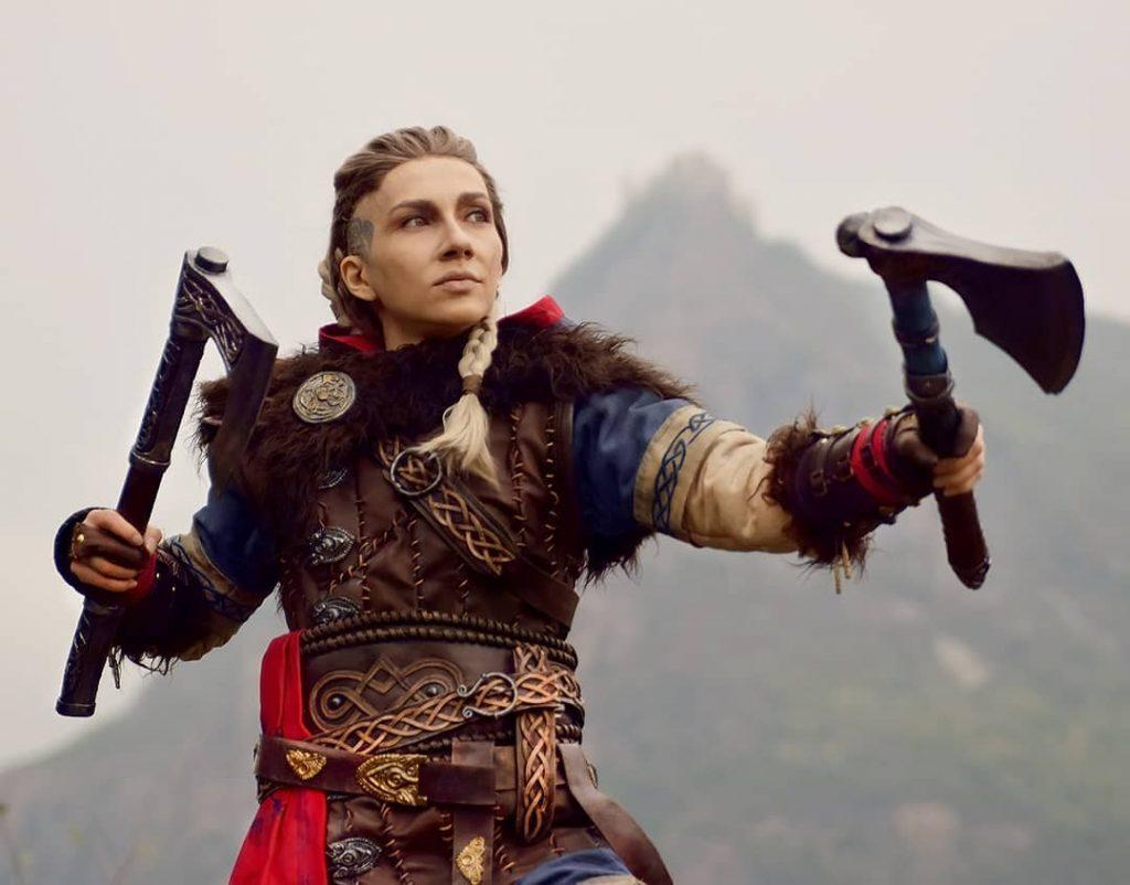 Лучший косплей Эйвор Варинсдоттер из Assassin's Creed Valhalla