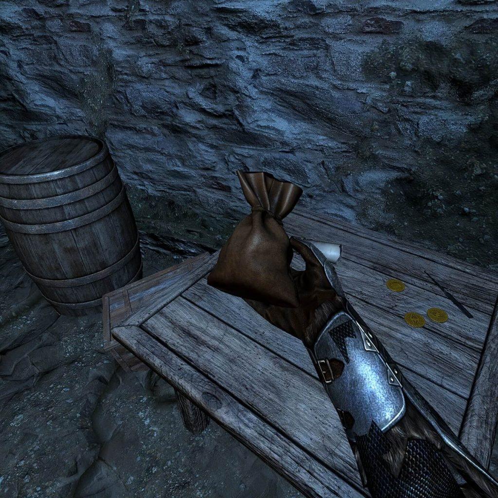 Мод добавляет в Skyrim VR гравитационные перчатки