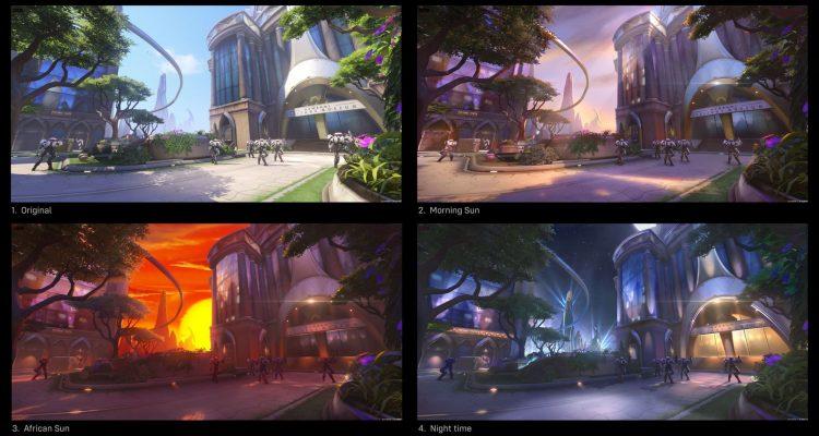 Карты Overwatch 2 не будут привязаны к одному времени суток